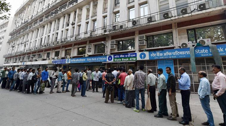 demonetisation atm queue
